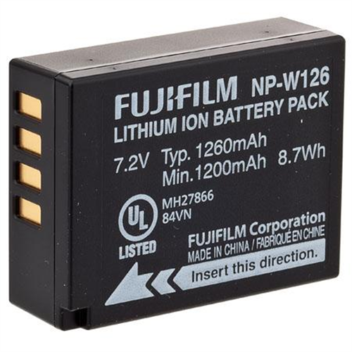 FUJI NP-W126 BATTERY FOR X-PRO1 & X-T1